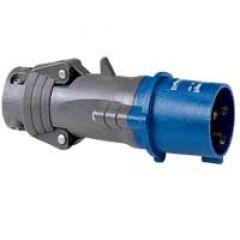 Fiche droite Hypra - IP44 - 16 A - 200/250 V~ - 2P+T - plast