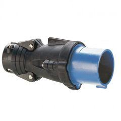 Fiche droite Hypra - IP44 - 16 A - 200/250 V~ - 3P+N+T - caoutchouc