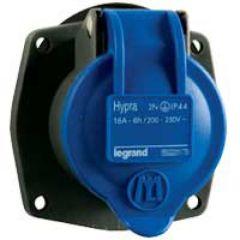 Socle tableau Hypra -IP44- 16 A - 200/250 V~ - 2P+T - plast - rempl M-L 10 A