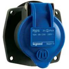 Socle tableau Hypra -IP44- 16 A - 200/250 V~ - 2P+T - plast - rempl M-L 16 A