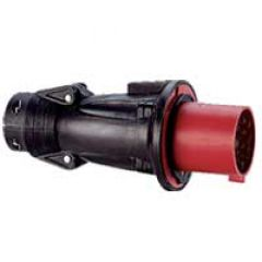 Fiche droite Hypra - IP44 - 16 A - 380/415 V~ - 3P+N+T - caoutchouc