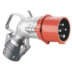 Fiche coudée Hypra - IP44 - 16 A - 380/415 V~ - 3P+N+T - métal