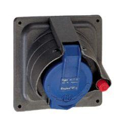 Socle tableau Prisinter Hypra - IP44/55 - 32 A - 200/250 V~ - 2P+T - plast