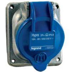 Socle tableau Hypra - IP44 - 32 A - 200/250 V~ - 2P+T - métal