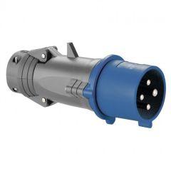 Fiche droite Hypra - IP44 - 32 A - 200/250 V~ - 3P+T - plast