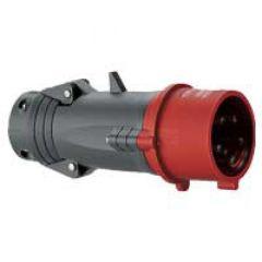 Fiche droite Hypra - IP44 - 32 A - 380/415 V~ - 3P+N+T - plast