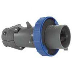 Fiche droite Hypra - IP66/67-55 - 32 A - 200/250 V~ - 2P+T - plast