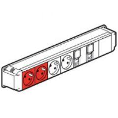 Bloc nourrice - 2x2P+T + 2x2P+T détrompage + 2 RJ45 - 1 mod - à câbler