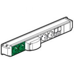 Bloc nourrice - 4x2P+T (vertes, blanches) + 2xRJ45 + 1 inter horaire - à câbler