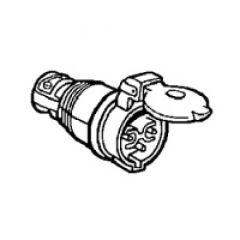 Prise mobile ML - IP44 - 16 A - 24 V~ - 2P - caoutchouc avec collier d'amarrage