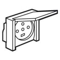 Socle à encastrer - prise étanche Plexo 20 A - 3P+N+T - IP44-IK08 - gris