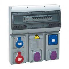 Coffret 5 prises P17 - IP44 - avec disj + inter diff + transfo 150 VA