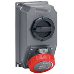 Coffret prise Hypra conteneur frigo - IP66/67-55 - 32 A - 440 V~ - 3P+T - plast