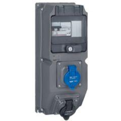 Coffret multiprises Hypra - IP44 - 2 prises 200/250 V~ - disj diff