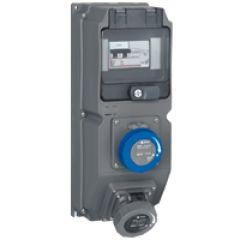 Coffret multiprises Hypra - IIP66/67-55 - 2 prises 200/250 V~ - disj diff
