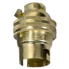 Douille raccord fileté B 22 - 4A/150W - 250 V~ - simple bague métal
