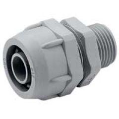 Raccord mâle droit Universale pour conduit PVC - Ø int 24,5/35,5 - ISO 40