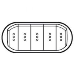 Enjoliveur Céliane - VV / poussoir 5 cdes compactes à voyant - doigt large blanc
