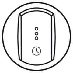 Enjoliveur Céliane - inter temporisé/inter + ventilation retardée - blanc