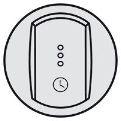 Enjoliveur Céliane - inter temporisé/inter + ventilation retardée - titane