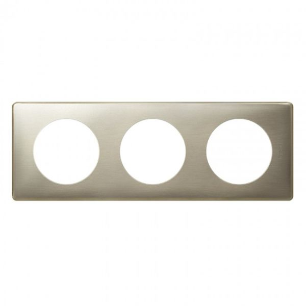 Plaque c liane m tal 3 postes titane achat vente - Plaque metal decorative pas cher ...
