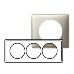 Plaque Céliane - Métal - 3 postes pour rénovation - Titane