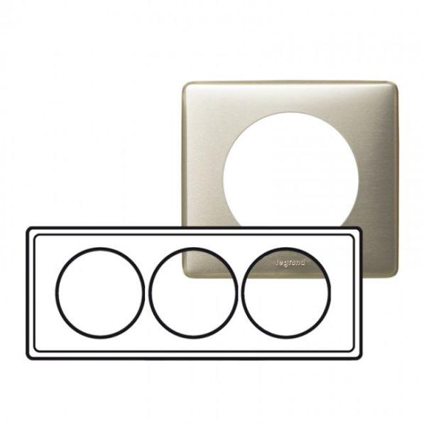 Plaque c liane m tal 3 postes pour r novation titane - Plaque metal decorative pas cher ...