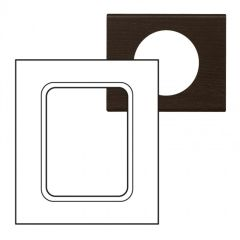 Plaque Céliane - Matières - pour écrans tactiles 3,5'' - Teinté Wengué