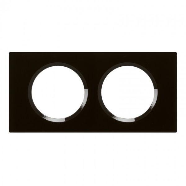 plaque matiere 2p verre noir achat vente legrand 069302. Black Bedroom Furniture Sets. Home Design Ideas