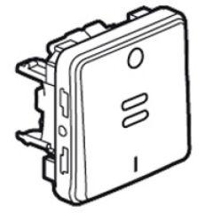 Inter bipolaire lumineux Prog Plexo composable gris - 10 AX