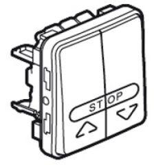 Double poussoir cde boîtier automatisme volet roulant Prog Plexo composable gris