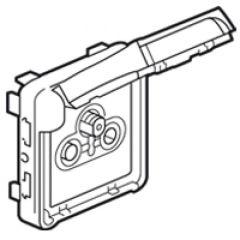 Prise TV-R-SAT Prog Plexo composable gris - avec démodulateur individuel