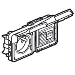 Prise différentielle 30 mA Prog Plexo composable gris - 16 A - 250 V