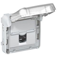 Prise RJ 45 Prog Plexo - Cat. 6 - FTP - IP 55 volet fermé IK 07 - LCS²