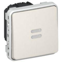 Inter temporisé lumineux Prog Plexo composable blanc - 230V - 50/60 Hz