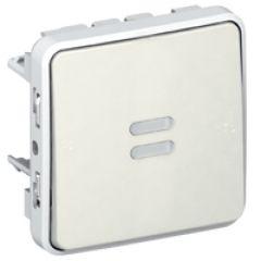Va-et-vient témoin Prog Plexo composable blanc - 10 AX - câblage existant