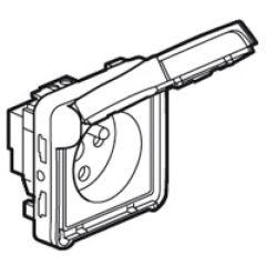 Prise 2P+T à détrompage Prog Plexo composable blanc - 16 A - 250 V