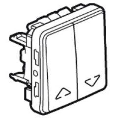 Double va-et-vient cde directe moteur/volet roulant Prog Plexo composable blanc