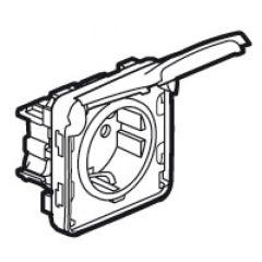 Prise 2P+T contact latéral de terre Prog Plexo composable blanc - 16 A - 250 V
