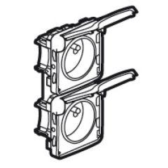 Prises 2x2P+T vertical précâblées Prog Plexo composable blanc - 16 A - 250 V