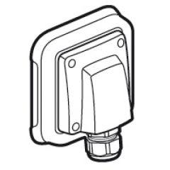 Sortie de câbles Prog Plexo complet encastré gris - retenue des câbles 20 - 32 A