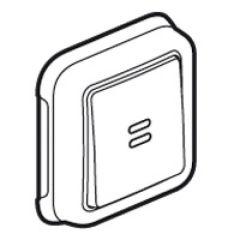 Poussoir NO + NF Prog Plexo complet encastré blanc - 10 A
