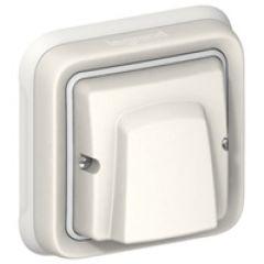 Sortie de câbles Prog Plexo complet encastré blanc - 20 A avec bornier