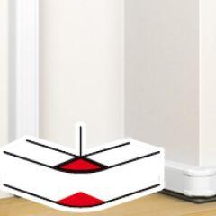 Angle extérieur 85 à 120° - pour goulotte à clippage direct Prog Mosaic 50x80