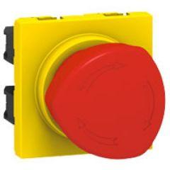 Poussoir coup de poing arrêt d'urgence Prog Mosaic - 1/4 de tour - 3 A - 2 mod