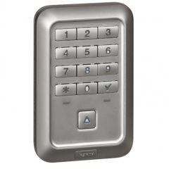 Lecteur extérieur à clavier codé à bouton-poussoir Prog Soliroc - IP 55 - IK 10