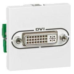 Prise audio vidéo Programme Mosaic - DVI-I - 2 modules - blanc