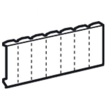 Obturateur 18 modules - blanc RAL 9010