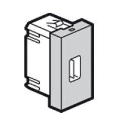 Prise USB femelle Prog Mosaic - 1 mod - alu