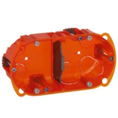Boîte multimatériaux Batibox - 2 postes - 4/5 mod - vert/horiz - prof. 40